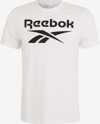 REEBOK Sport-Shirt in schwarz / weiß, Produktansicht