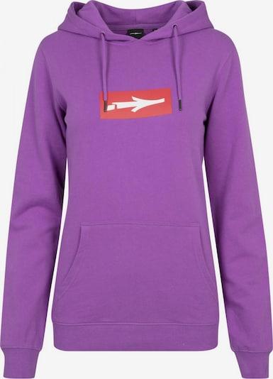 Mister Tee Sweatshirt 'Inbox' in de kleur Neonlila / Rood / Wit, Productweergave