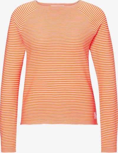 Marc O'Polo DENIM Pullover in orange / weiß, Produktansicht