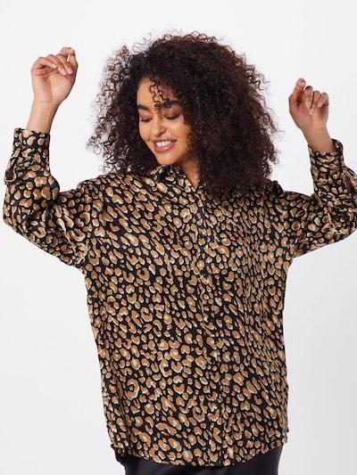 Missguided Bluzka w kolorze brązowy / czarnym, Podgląd na modelu(-ce)