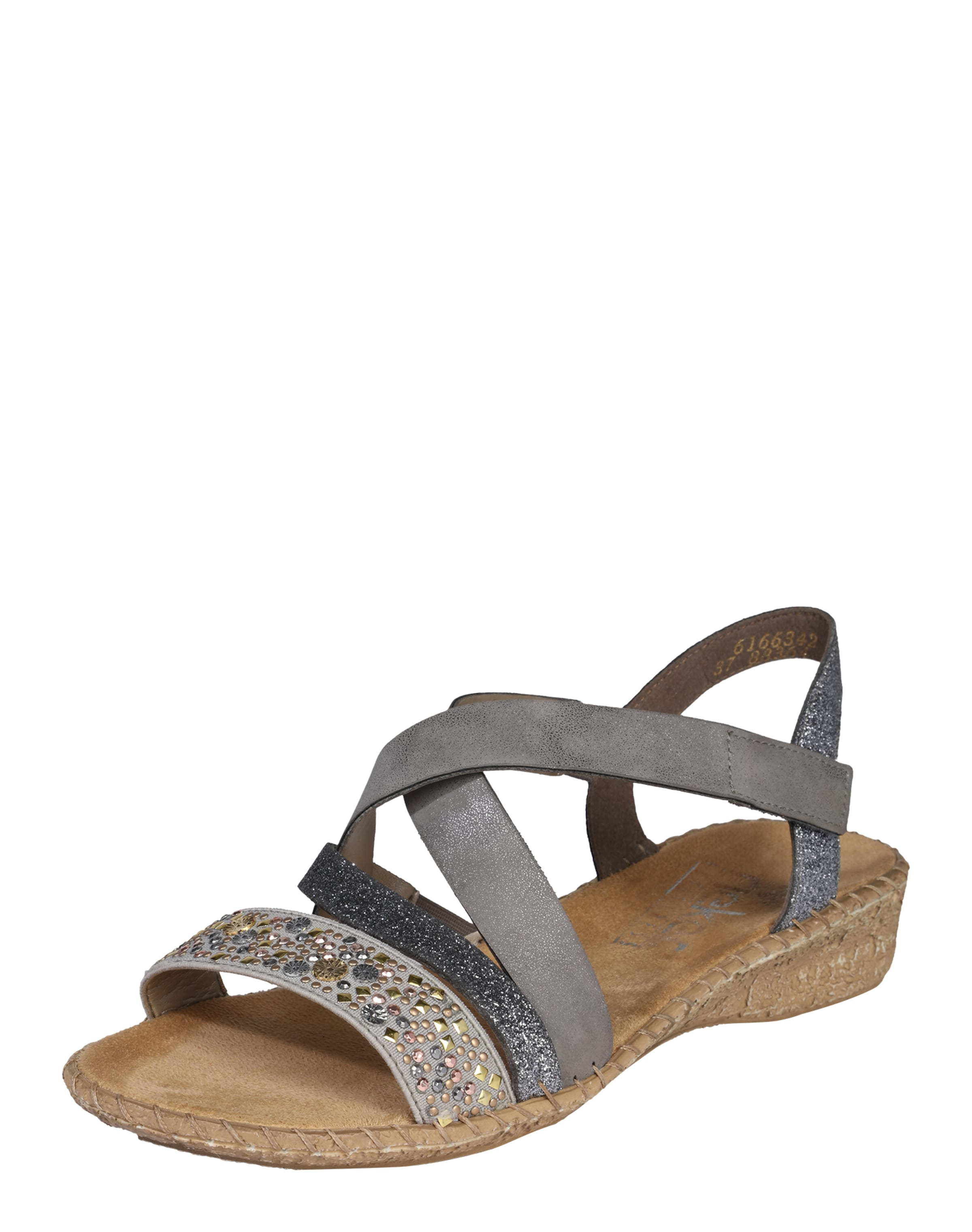RIEKER Sandalen mit Nietenbesatz Cross Hohe Qualität