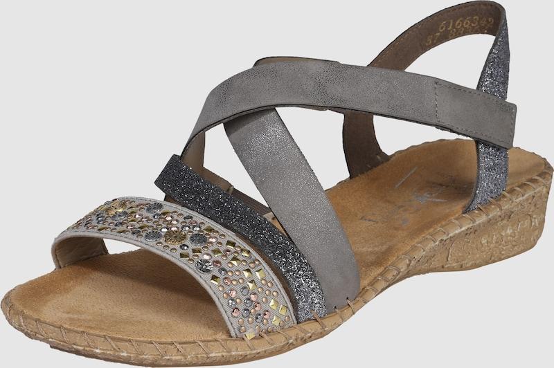 RIEKER Sandalen 'Cross' mit Nietenbesatz