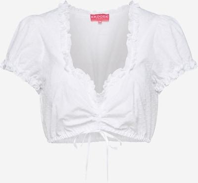 Krüger Madl Dirdnl-bluse i hvid, Produktvisning