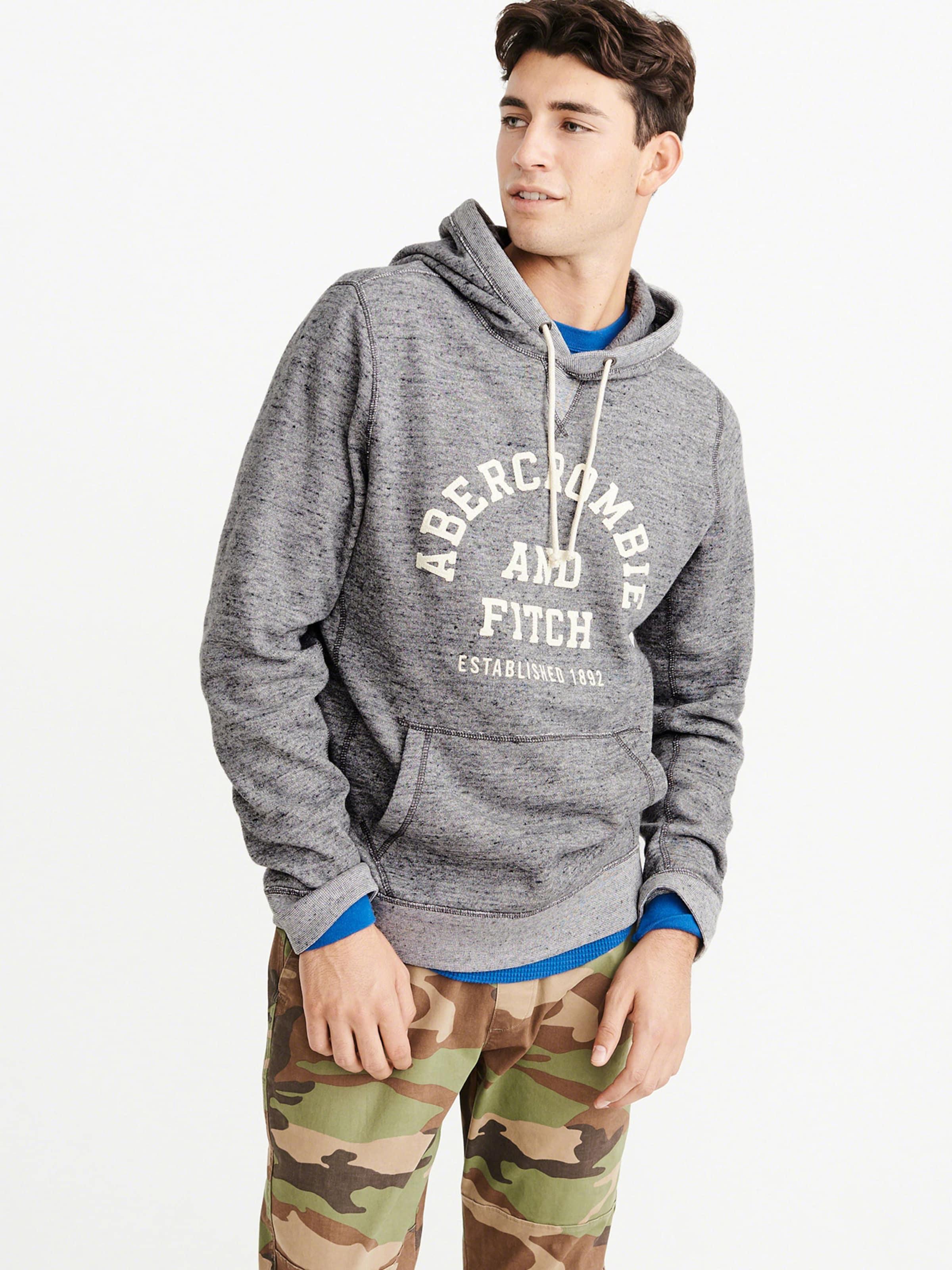 Popover Gris En Fitch shirt 'core Grey' Sweat Logo Abercrombieamp; 29YWEHID