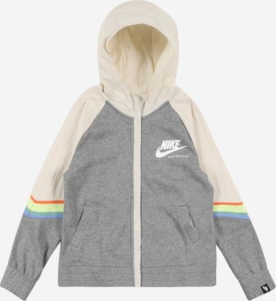 NIKE Sportsweatjacke ' Heritage ' in grau / weiß, Produktansicht
