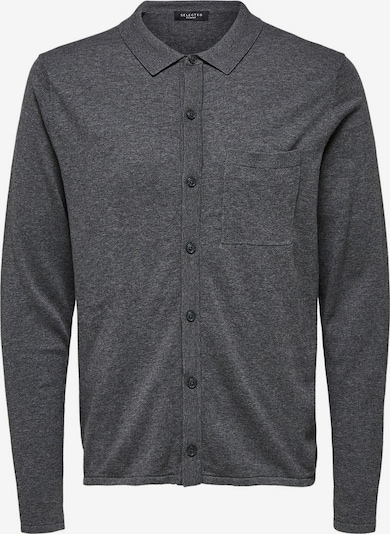 SELECTED HOMME Cardigan in graumeliert: Frontalansicht