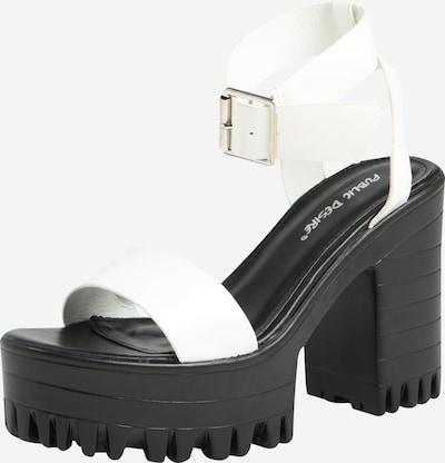 Public Desire Sandale 'AVENUE' in schwarz / weiß, Produktansicht