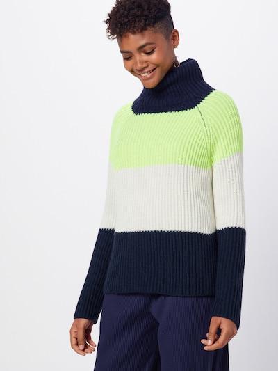 DRYKORN Pullover 'ARWEN' in blau / gelb / weiß, Modelansicht