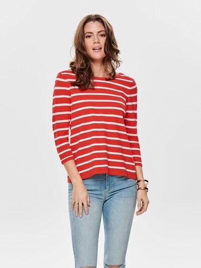 ONLY Pullover in rot / weiß, Modelansicht