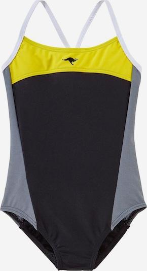 KangaROOS Badeanzug in gelb / grau / schwarz, Produktansicht