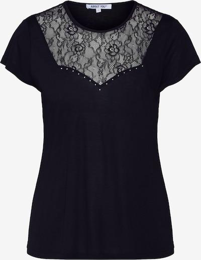 Marškinėliai 'Sarah' iš ABOUT YOU , spalva - juoda: Vaizdas iš priekio