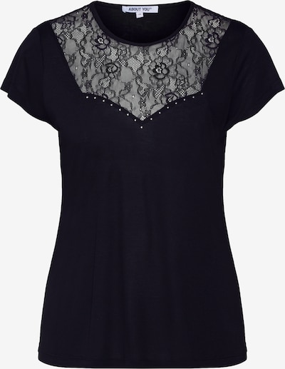 ABOUT YOU Shirt 'Sarah' in schwarz: Frontalansicht