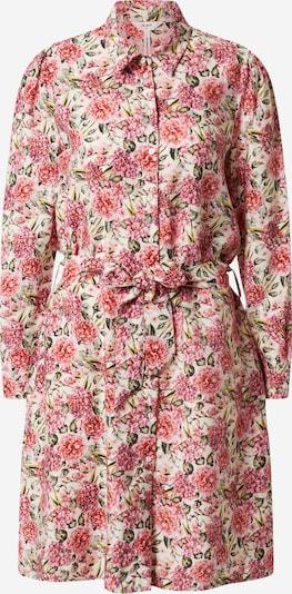 OBJECT Košeľové šaty 'OBJTILLI ELENORA L/S SHIRT DRESS PB8' - ružová / červená / biela: Pohľad spredu