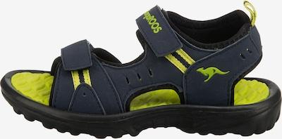KangaROOS Sandalen in blau / neongrün, Produktansicht