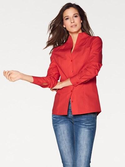heine Stehkragenbluse in rot, Modelansicht