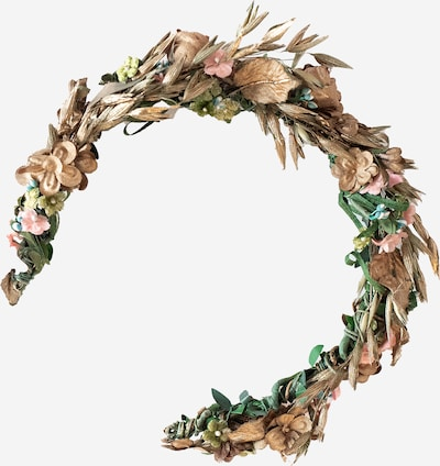 We Are Flowergirls Haarschmuck 'Flowercrown Willow' in mischfarben / rosé, Produktansicht