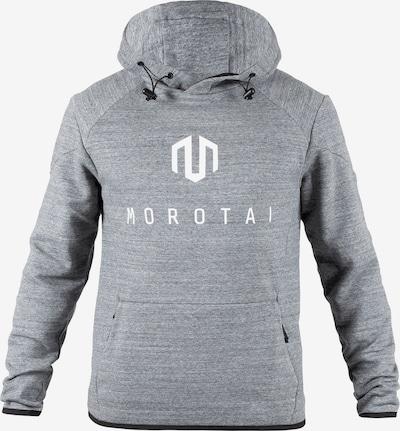 MOROTAI Pullover 'Neo' in graumeliert / weiß, Produktansicht