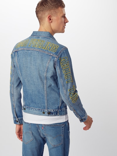 LEVI'S Jeansjacke 'TRUCKER' in blue denim: Rückansicht