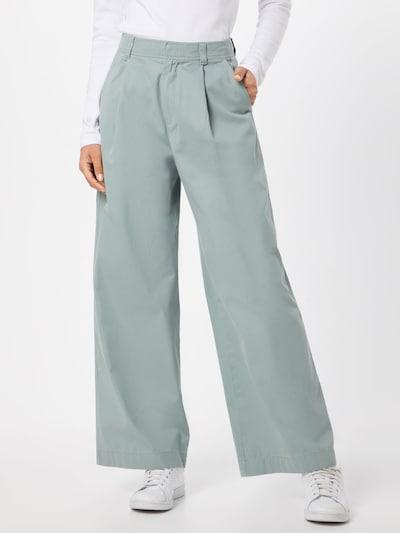 Klostuotos kelnės 'HI-RISEPLEATEDWIDELEGJPN' iš GAP , spalva - žalia, Modelio vaizdas