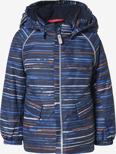 Reima Winterjacke 'Mjuk' in blau / nachtblau / dunkelorange / weiß, Produktansicht