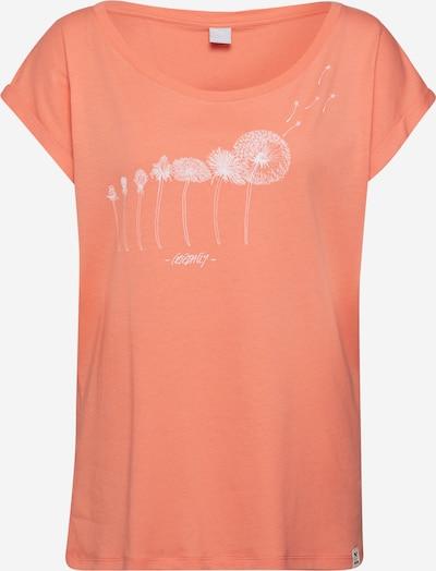 Iriedaily T-shirt 'Evolution' en corail / blanc, Vue avec produit