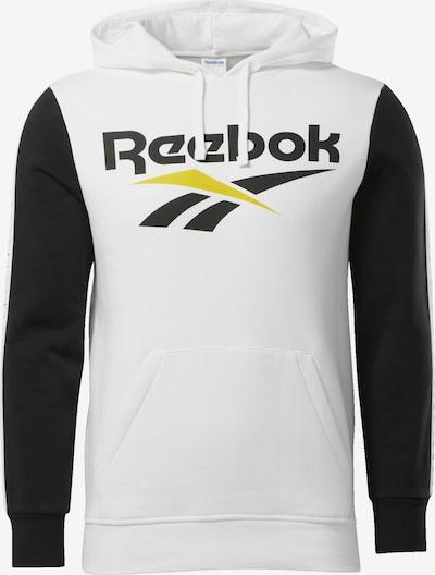 REEBOK Hoodie 'Classics Vector' in gelb / schwarz / weiß, Produktansicht
