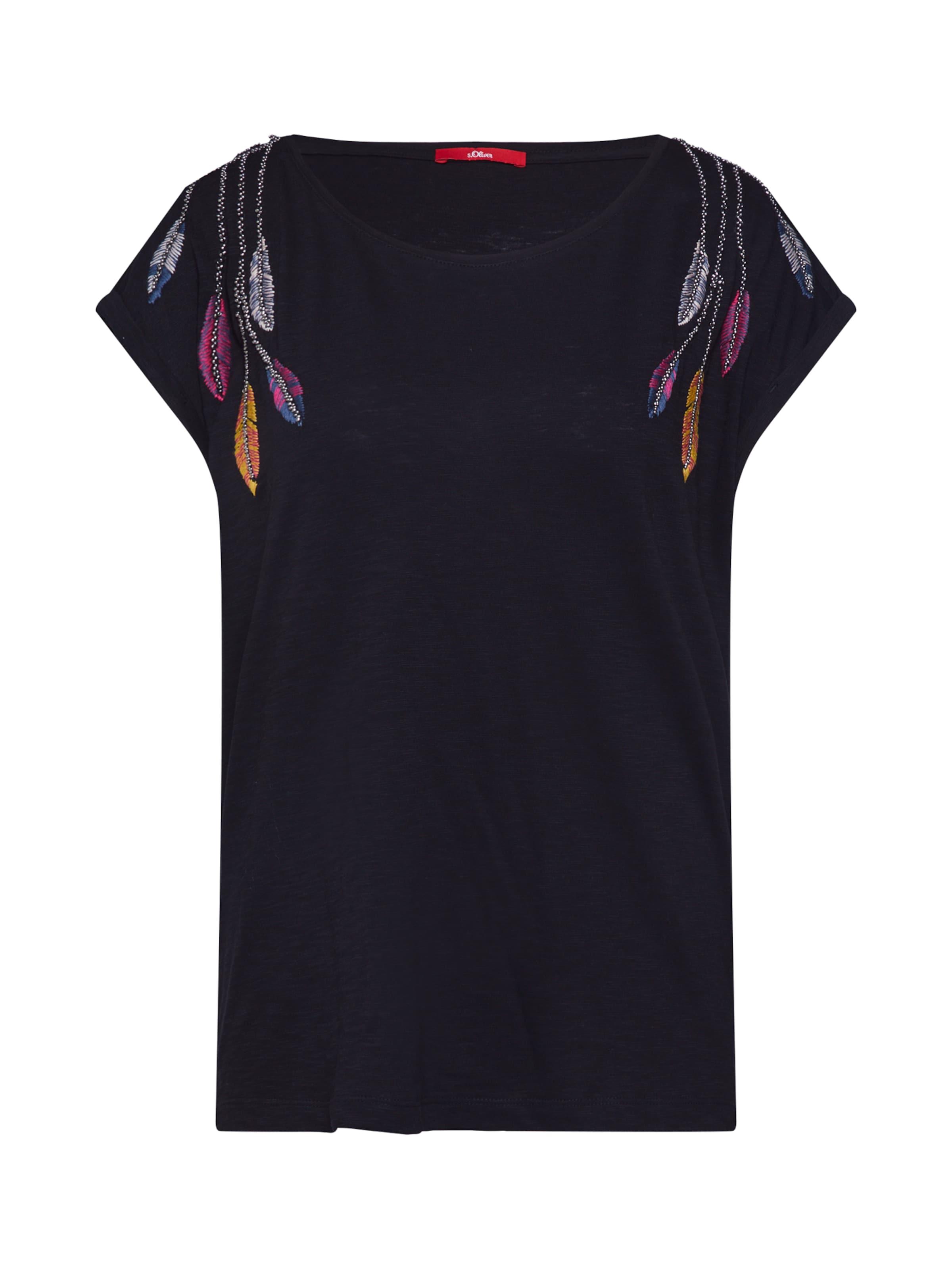 shirt S oliver Red Label En T Noir nwP0Ok