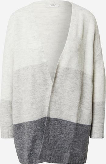 JACQUELINE de YONG Cardigan 'ELANORA' en gris clair / gris foncé / gris chiné, Vue avec produit