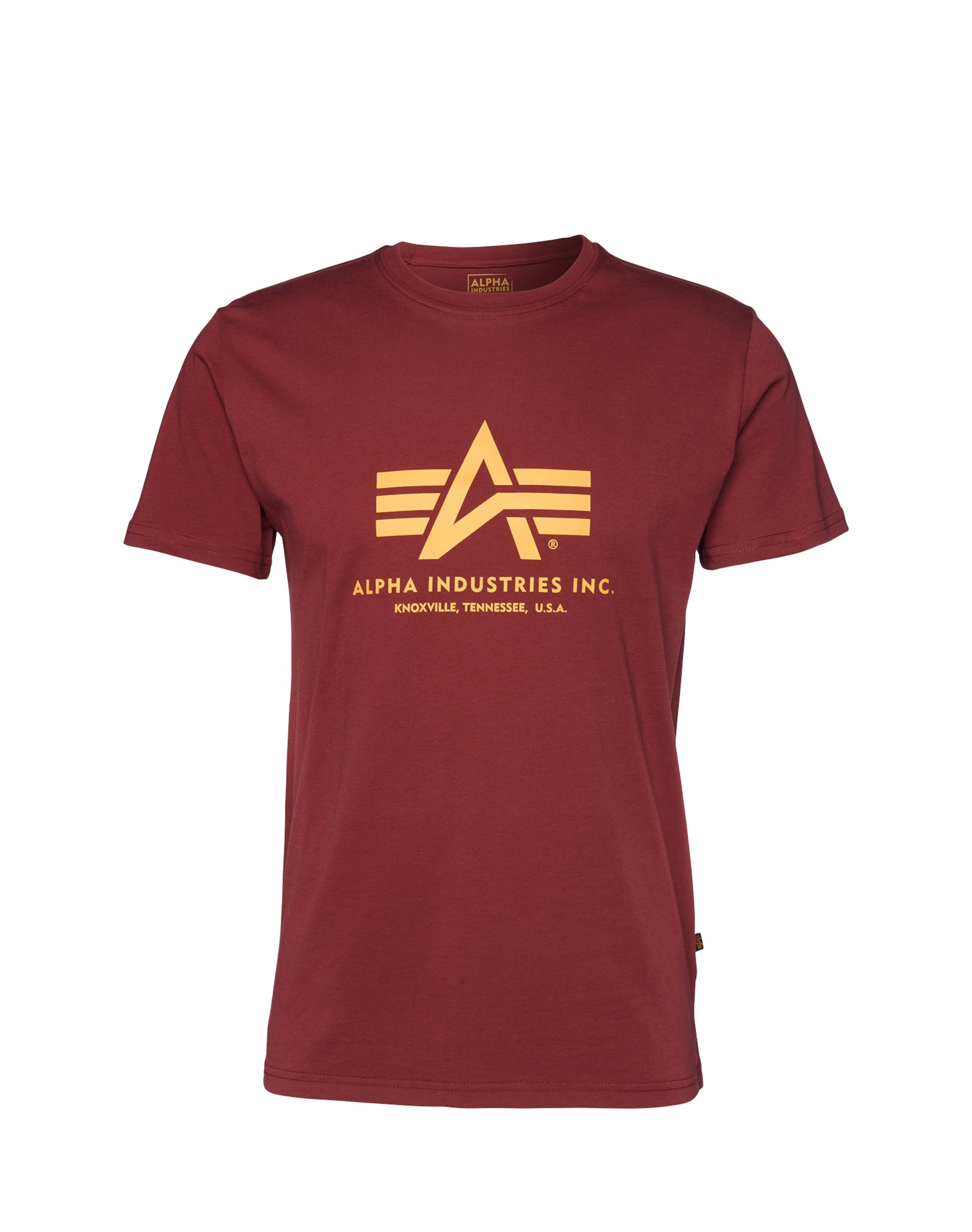 Industries shirt Print Burgunder Alpha In j3Aqc54RL