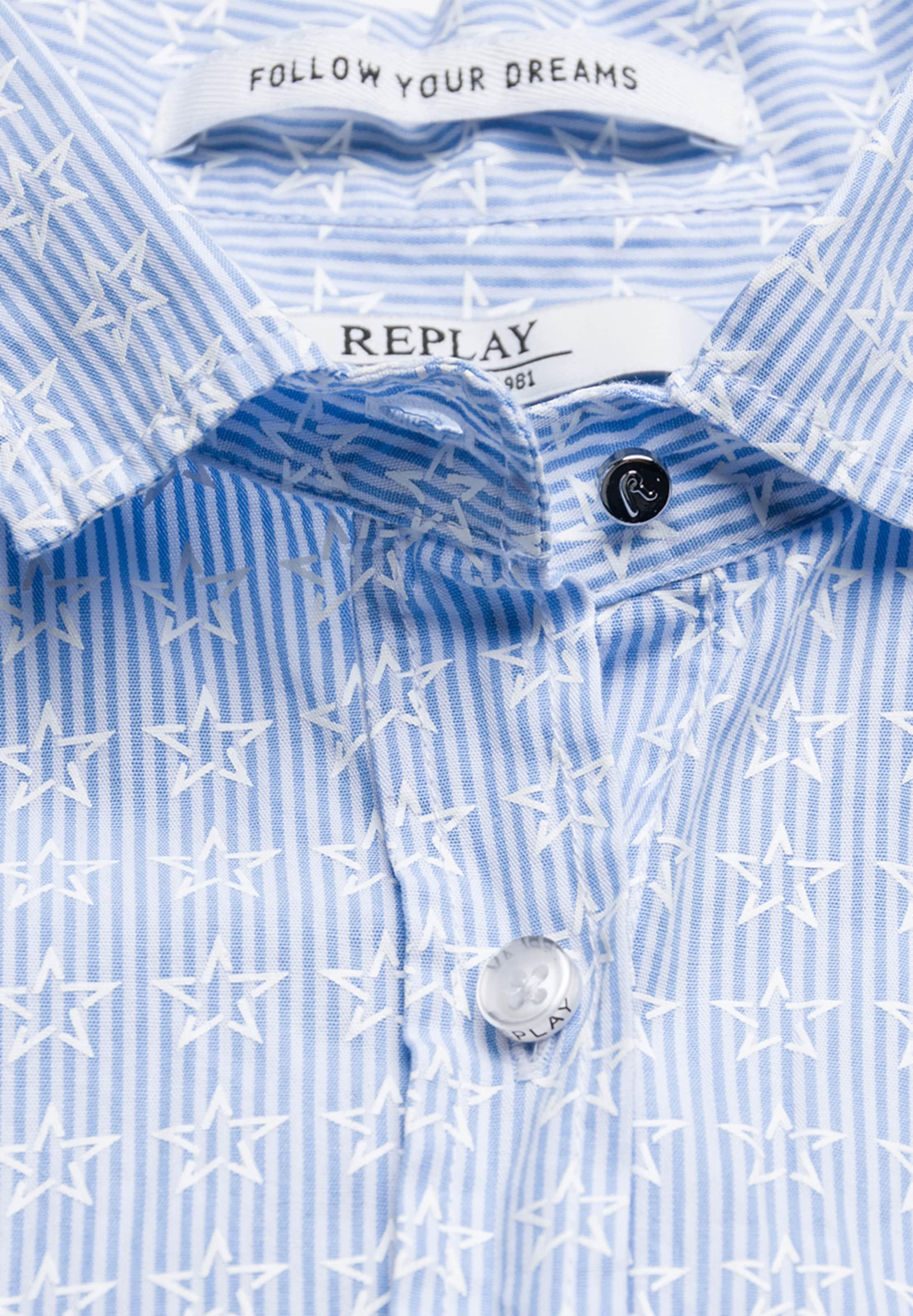 Sternen Replay Bluse Blau Streifen Und In Mit sCxhQtdBr