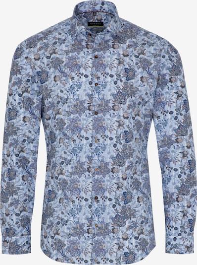 ETERNA Hemd in taubenblau / hellblau / braun, Produktansicht