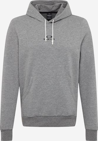 OAKLEY Sportsweatshirt 'HOODIE NEW BARK' i grå