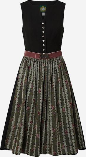 HAMMERSCHMID Dirndl 'Taubensee' in de kleur Donkergroen / Rosé / Zwart, Productweergave