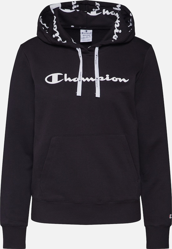 Champion Authentic Athletic Apparel Sweatshirt in schwarz / weiß, Produktansicht