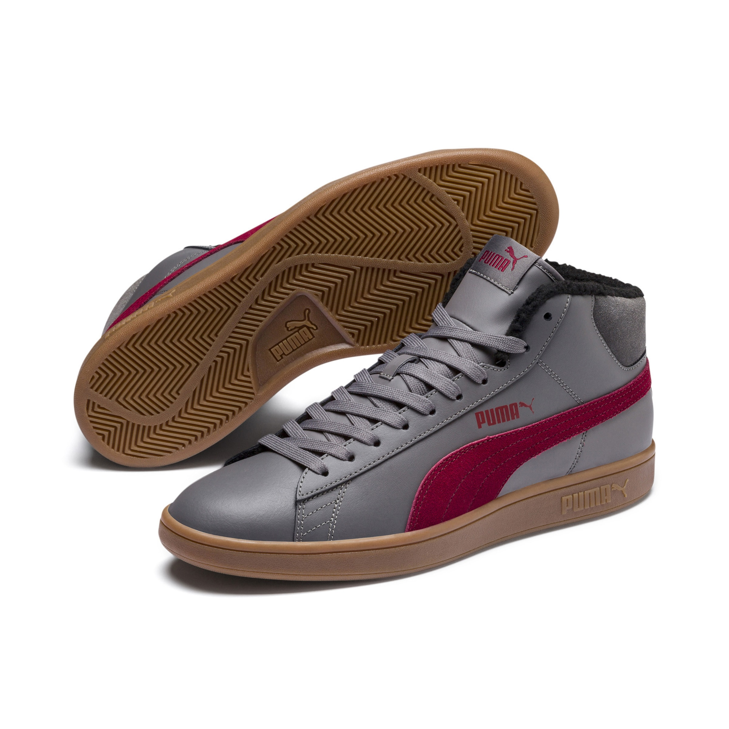 High Puma Mid' In SilbergrauBordeaux tops 'smash V2 WrBodxeC