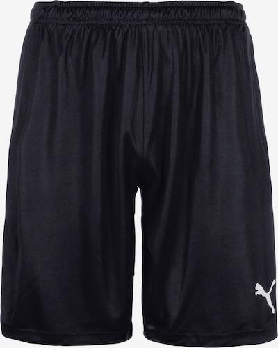 PUMA Sportbroek 'Liga' in de kleur Zwart / Wit, Productweergave