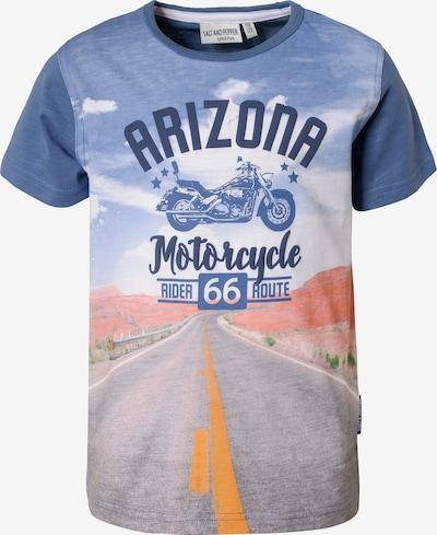 SALT AND PEPPER T-Shirt , Motorrad in blau, Produktansicht