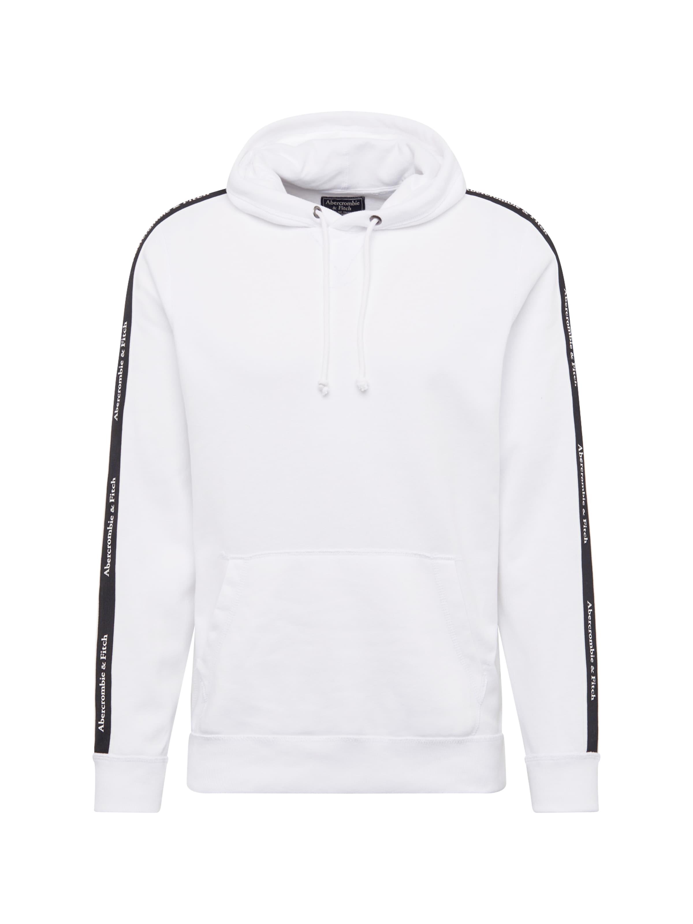 'b Fitch Sweatshirt Abercrombieamp; SchwarzWeiß In w' 4AR35jqL