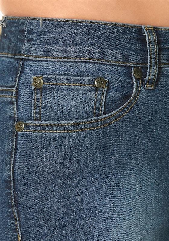 ARIZONA High-waist-Jeans 'Bootcut mit komfortabler Leibhöhe'