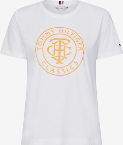 TOMMY HILFIGER Tričko - svetlooranžové / biela, Produkt