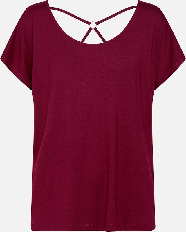 ABOUT YOU Shirt 'Bettina' in bordeaux: Frontalansicht