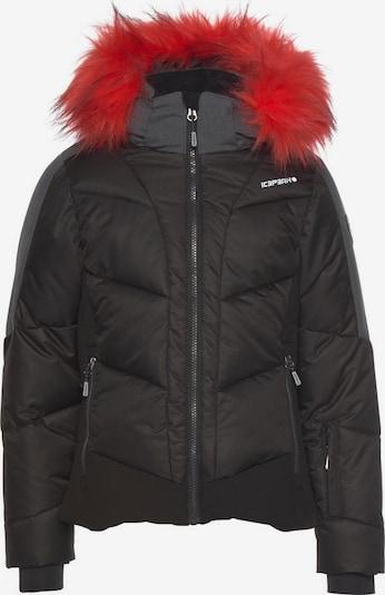 ICEPEAK Skijacke 'Leal' in basaltgrau / schwarz, Produktansicht
