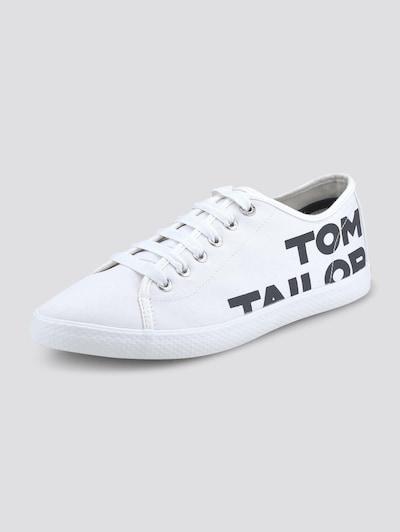 TOM TAILOR Sneaker in schwarz / weiß, Produktansicht