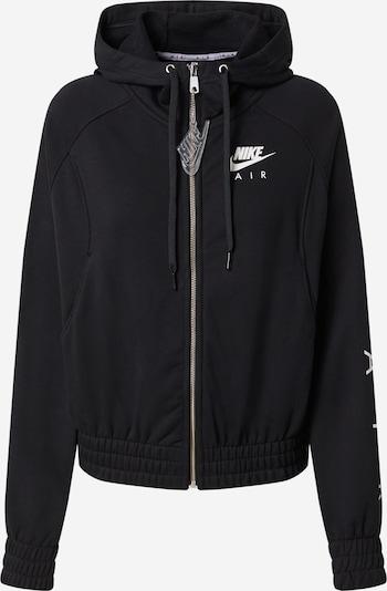 Nike Sportswear Veste de survêtement en noir / blanc, Vue avec produit