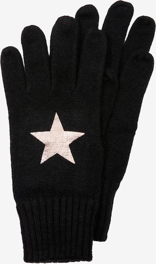 s.Oliver Handschuhe in gold / schwarz, Produktansicht