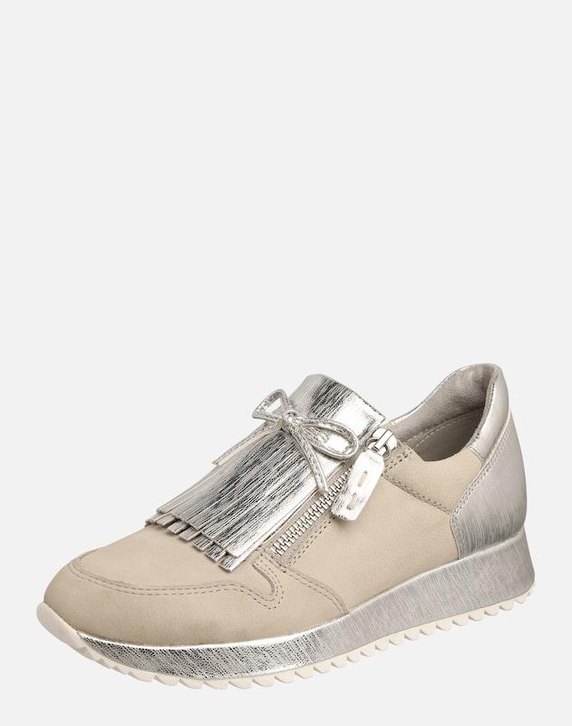 TAMARIS Sneaker mit Haferlasche creme silber
