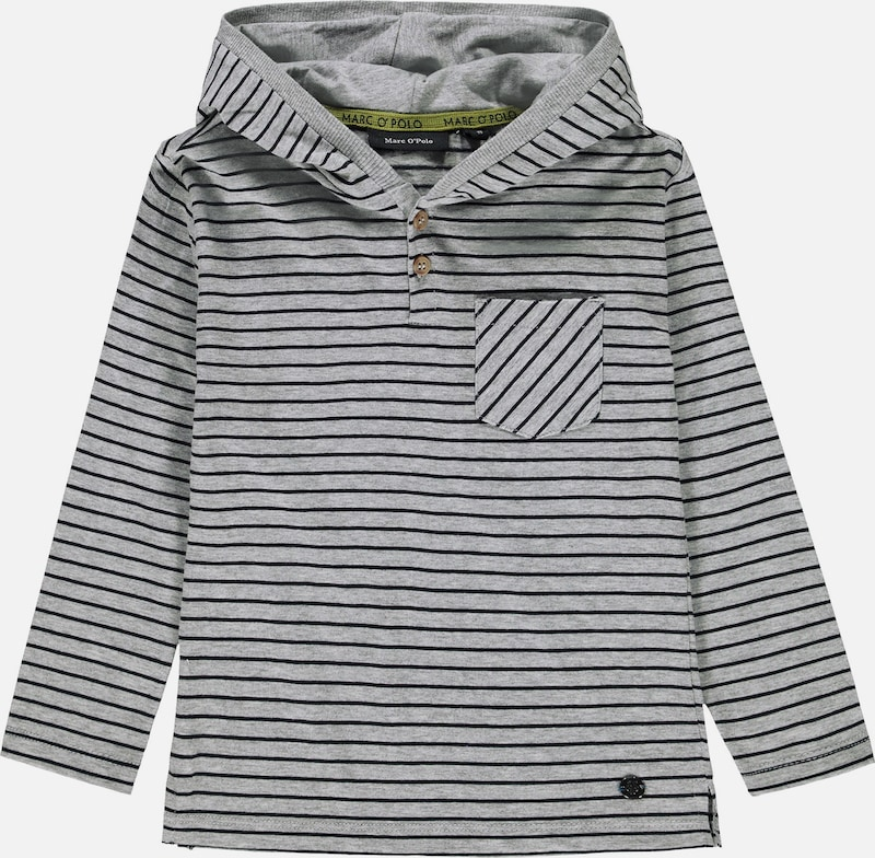 Marc O'Polo Junior Shirt in marine / graumeliert, Produktansicht