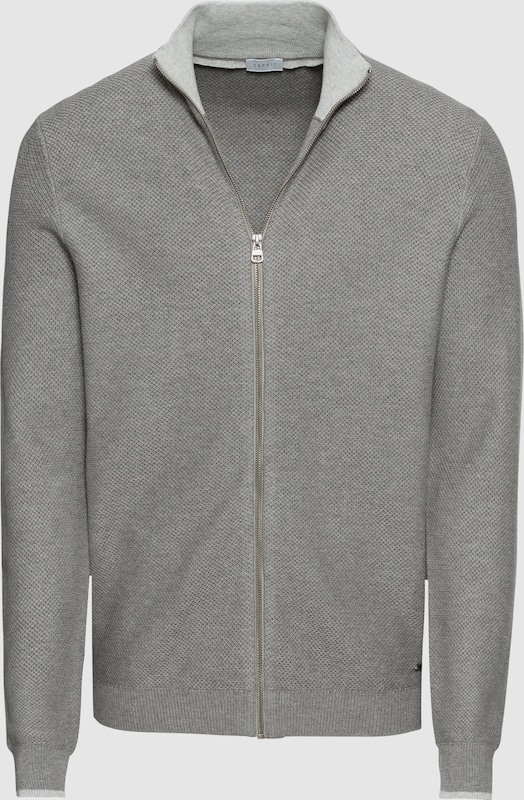 ESPRIT Strickjacke in grau  Neu in diesem Quartal