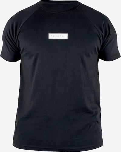 MOROTAI T-Shirt ' Bloc Logo Shirt ' in schwarz: Frontalansicht