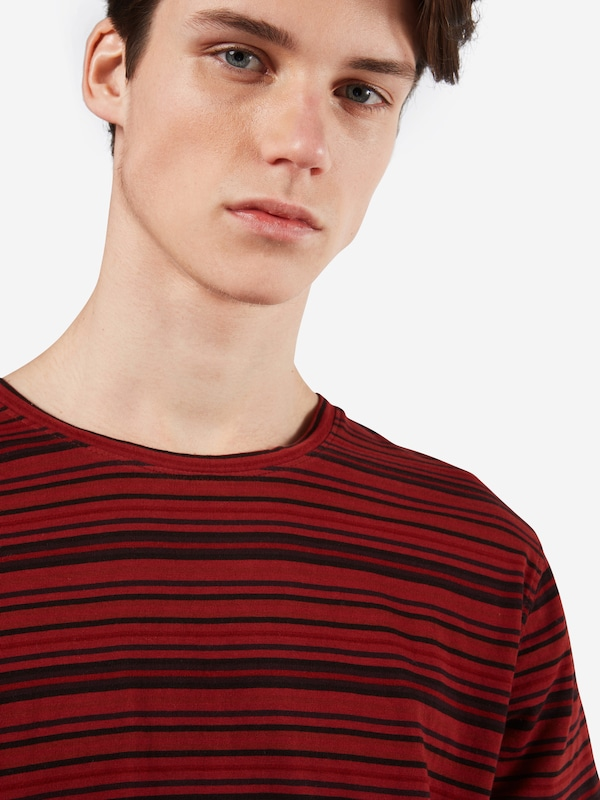 Nudie Jeans Co T-Shirt 'Anders Overdyed Stripes'
